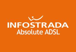 Absolute ADSL di Infostrada è l'offerta 20 mega di Infostrada che include le chiamate verso fissi e cellulari a soli 18 centesimi alla risposta.
