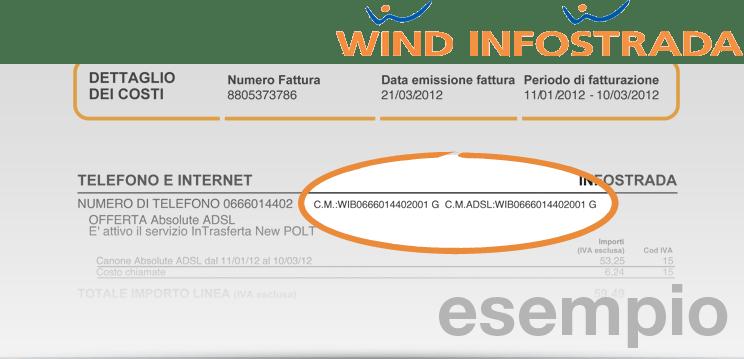 Dove trovare il codice di migrazione Wind Infostrada