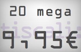 Tiscali adsl 20 mega - naviga veloce ed economico