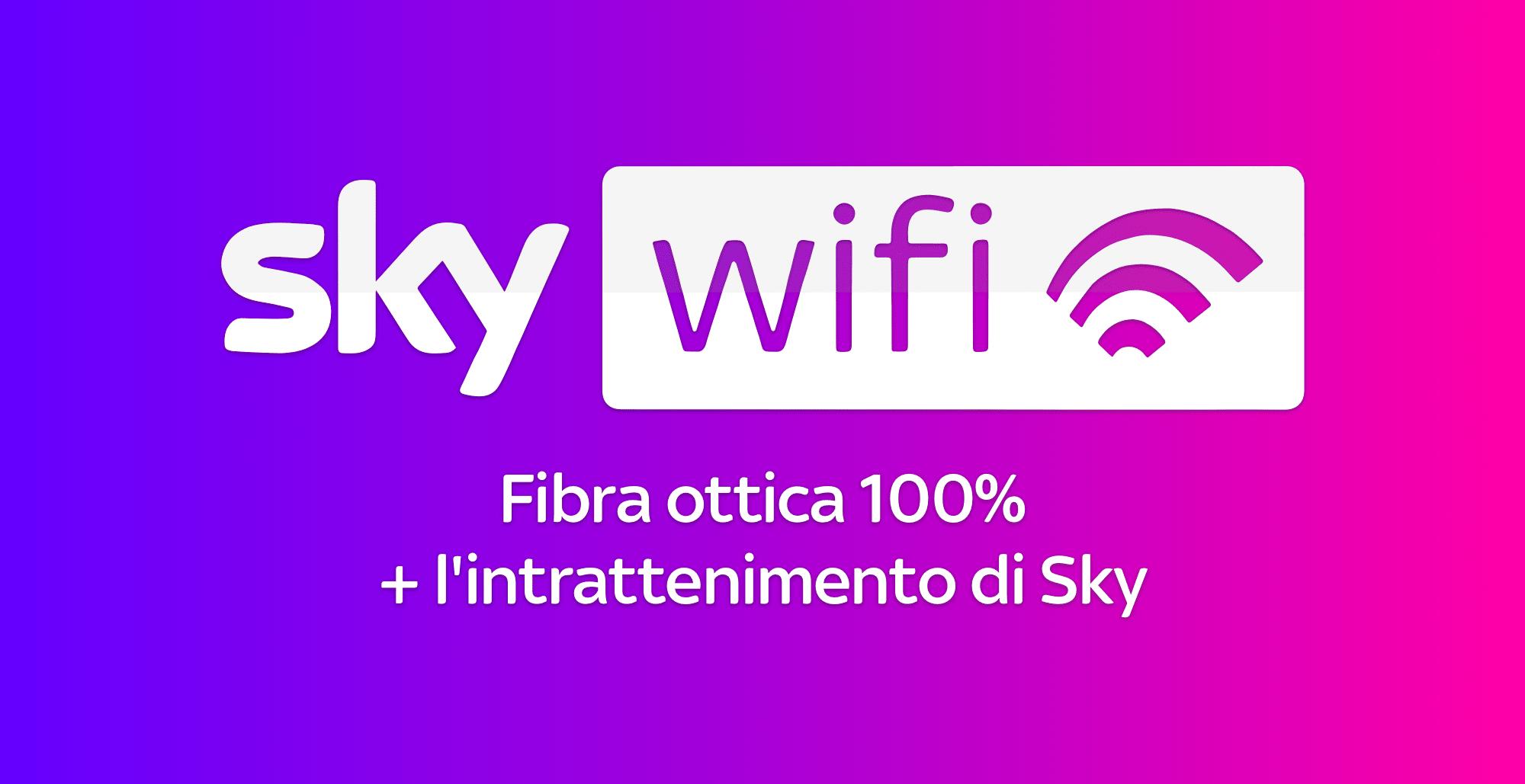 Sky Wifi Fibra e TV: la fibra ottica di Sky