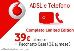 Vodafone ADSL e Telefono Completo - Limited Edition: la più completa promozione telefonia fissa sul mercato per 39€ al mese