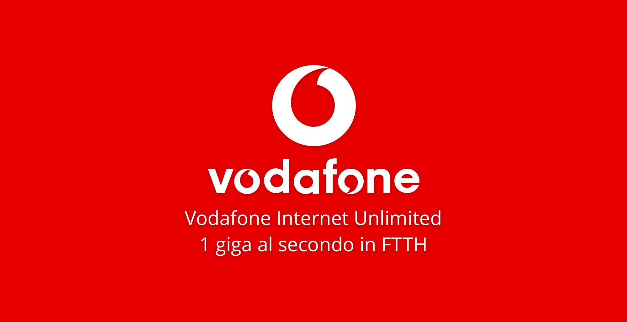 Vodafone Internet Unlimited è l'offerta fibra Vodafone più conveniente del momento. Fino a un giga al secondo, modem wifi incluso, navigazione fuori casa.